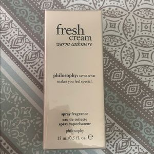 Philosophy fresh creme spray fragrance.